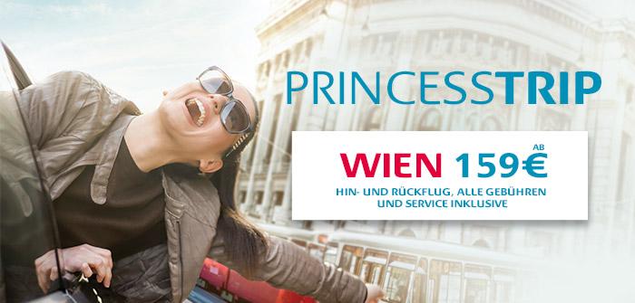 Wien, 3 Mal täglich zu optimalen Flugzeiten!