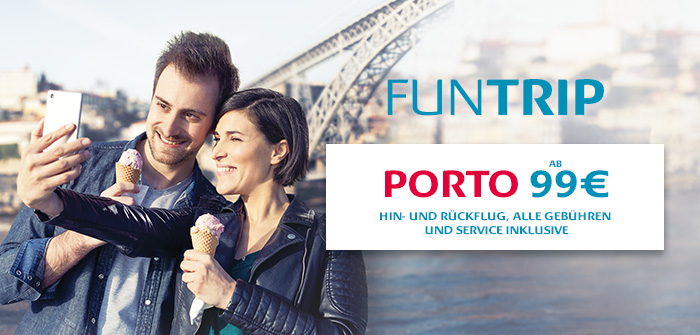 Porto: 6 Hin- und Rückflüge pro Woche ab 149€*, alles inkl.!