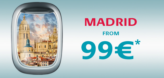 Fly to Madrid in comfort, ¡Vamos!