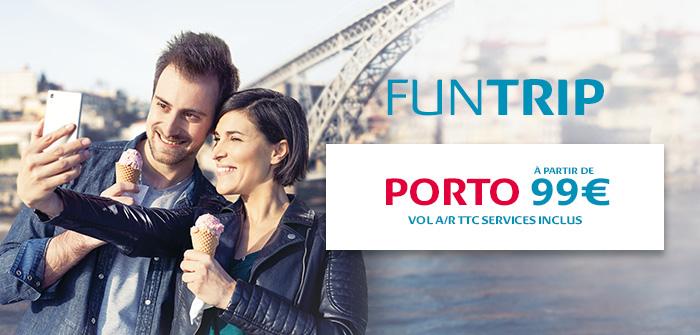 Porto: 6 vols A/R par semaine à partir de 149€*, tout compris !